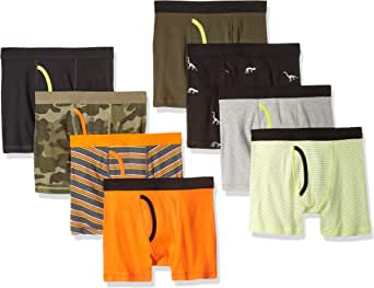 Amazon Essentials Cotton Boxer Briefs Underwear Niños, Pack de 8