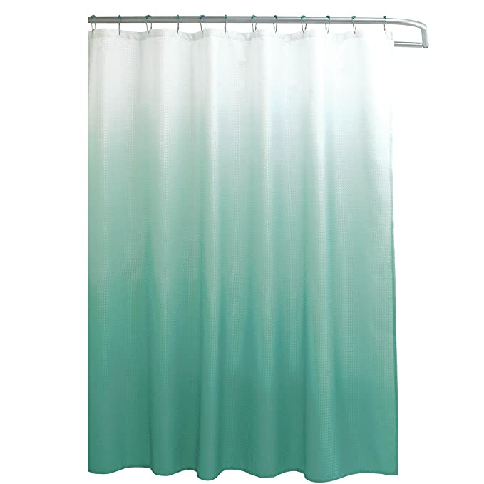 Amazon.com: Creative Home Ideas Ombre Textured Shower Curtain with ...