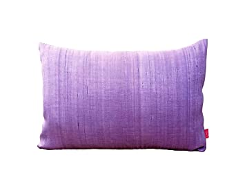 Amazon.com: Almohada de Seda, color lavanda, lumbar, fundas ...