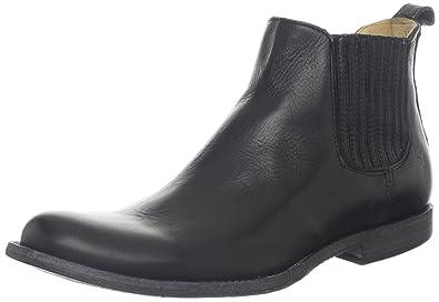 Black Frye Mens Leather Boots Phillip Chelsea