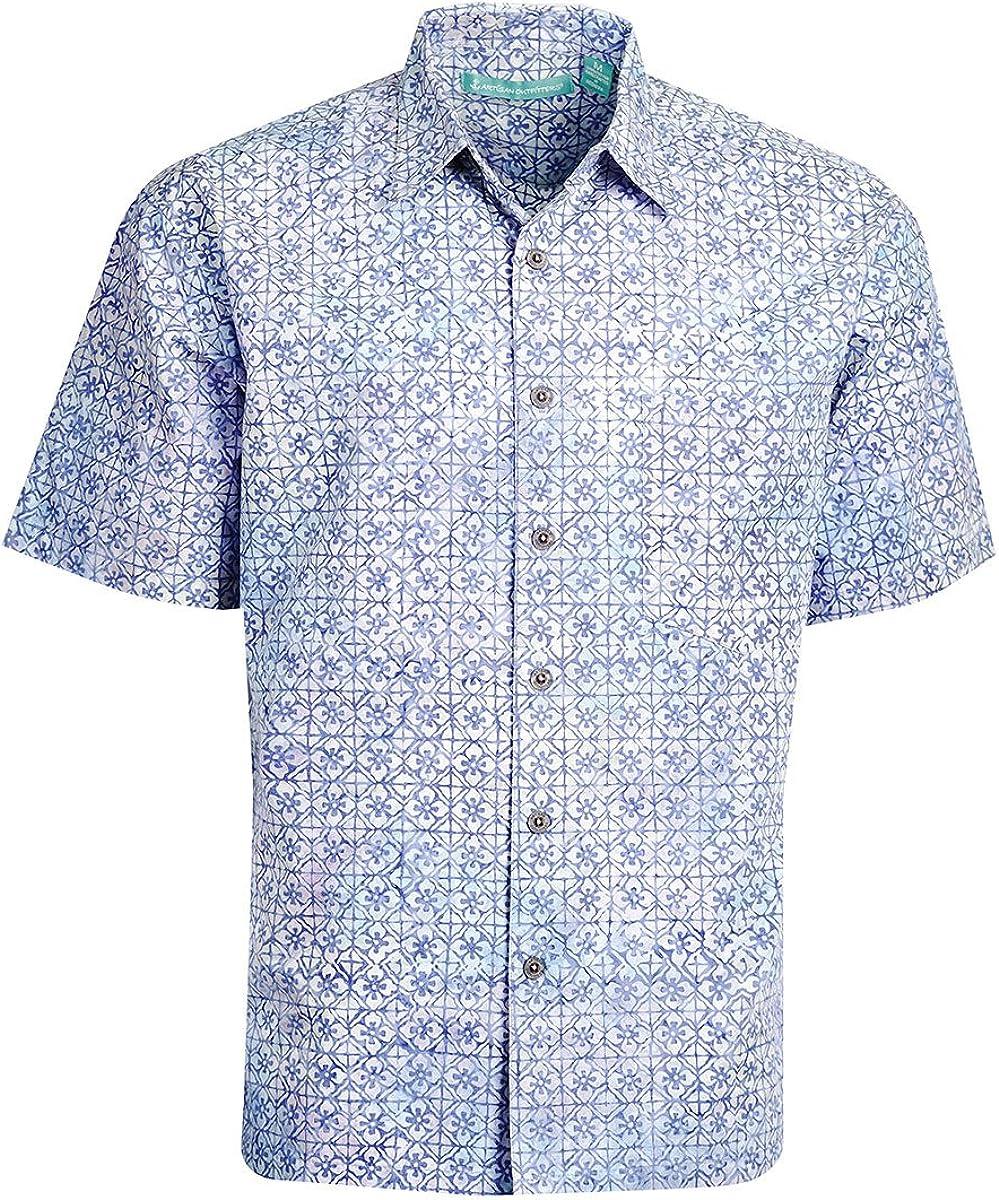 Artisan Outfitters Mens Newport Batik Cotton Hawaiian Shirt