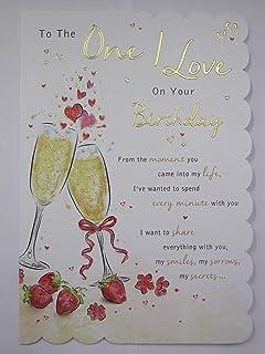 One i love birthday card amazon kitchen home one i love birthday card bookmarktalkfo Image collections