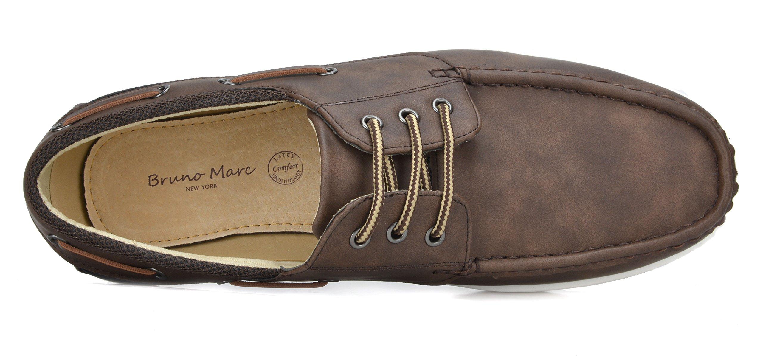 Bruno Marc Men's Pitts_16 DK.BRN/DK.BRN Oxfords Moccasins Boat Shoes Size 11 by Bruno Marc (Image #4)