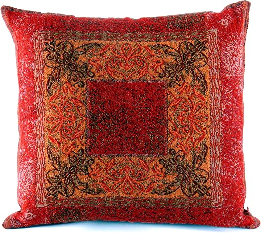 Mona Home SH-2274-10-16-RD Throw Pillow, Red