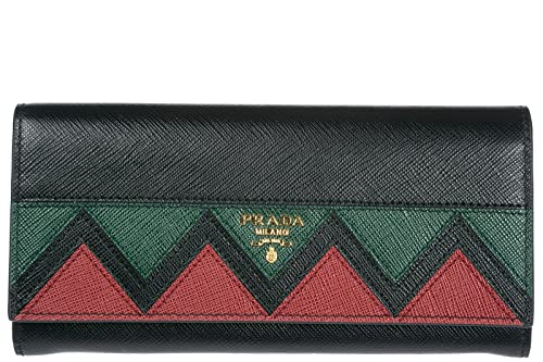 Prada monedero cartera bifold de mujer en piel nuevo negro: Amazon.es: Zapatos y complementos