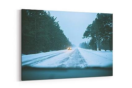 Amazon com: Car Light Snowfall and Vsco - Canvas Wall Art Gallery