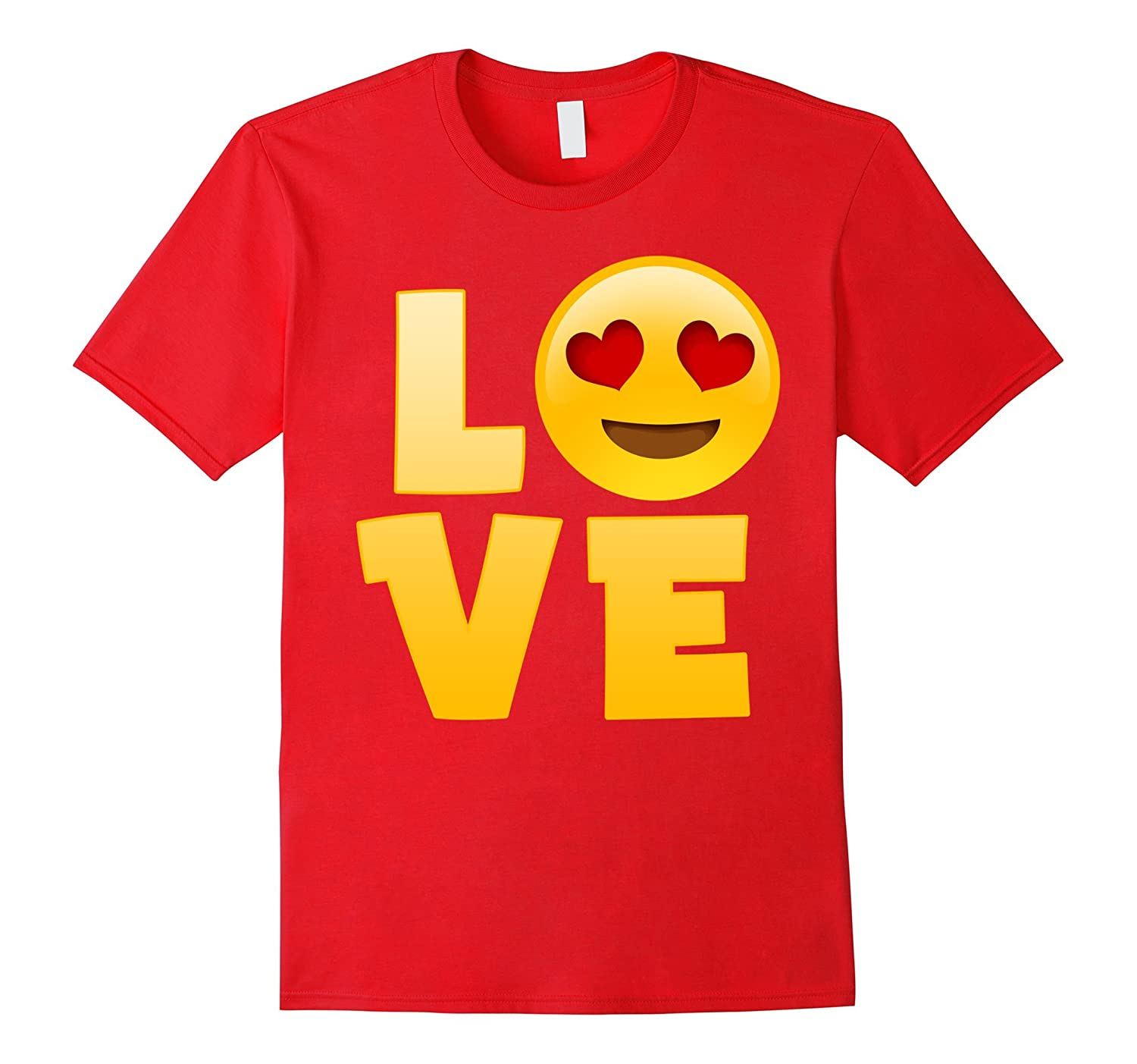 Happy Hearts Eyes And Smiley Love Emoji T Shirt Goatstee