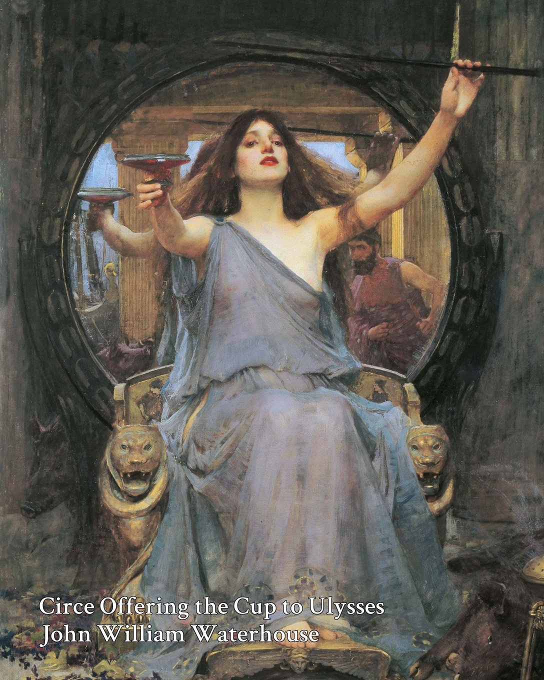 Read Online Circe Offering the Cup to Ulysses (Waterhouse) Notebook/Journal: 8x10 College Ruled - 200 Pages (Fine Art Cover Journals) pdf epub