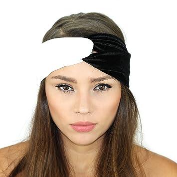 Amazon.com   Velvet Knot Headband (Black  White)   Beauty c42a8ae0a49