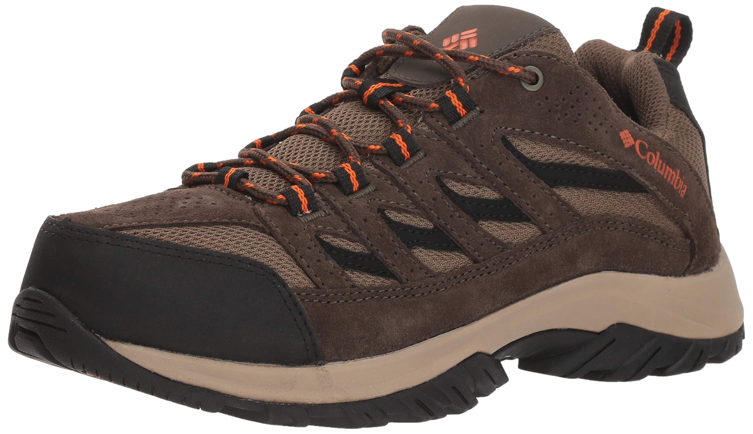 Columbia Men's Crestwood Wide Hiking Shoe, camo Brown, Heatwave, 14 Wide US