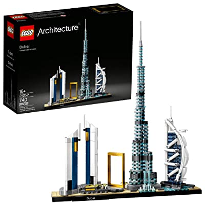 LEGO Architecture Skylines: Dubai 21052 Building Kit, Collectible Architecture Building Set for Adults, New 2020 (740 Pieces): Toys & Games