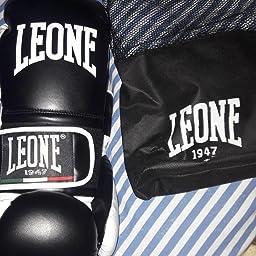 Leone 1947 Guantes de Boxeo, Modelo Flash Negro Negro Talla:14 Oz + 1947 AB705 - Vendas de Boxeo, Color Negro, tamaño 2,5m: Amazon.es: Deportes y aire libre