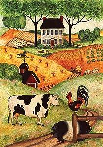 "Toland Home Garden 110556 Farm Gathering 12.5 x 18 Inch Decorative, Garden Flag-12.5"" x18"""