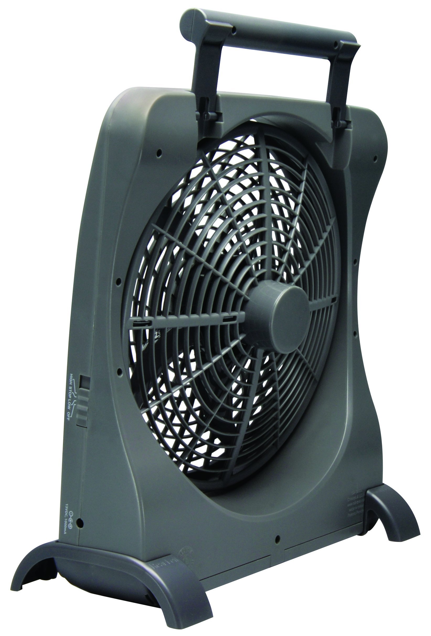 O2COOL 10-Inch Portable Smart Power Fan with AC Adapter & USB Charging Port, 8-D Battery Fan, Cell Phone Charging Fan, 10-Inch Compact Portable Battery Fan, Smart Power, Pivoting Fan Head by O2COOL (Image #2)