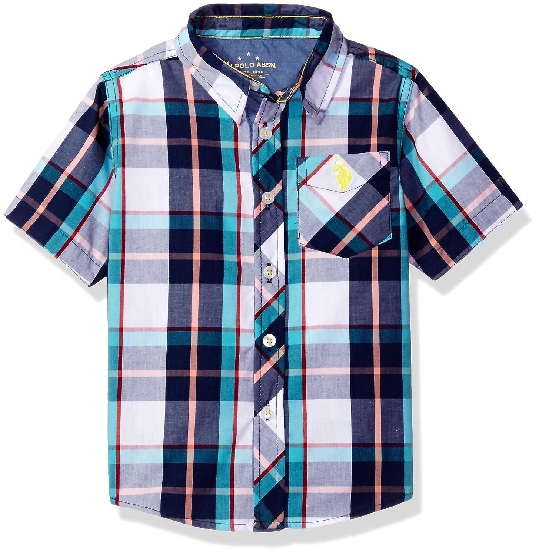 U.S. Polo Assn. Boys' Plaid Woven Shirt