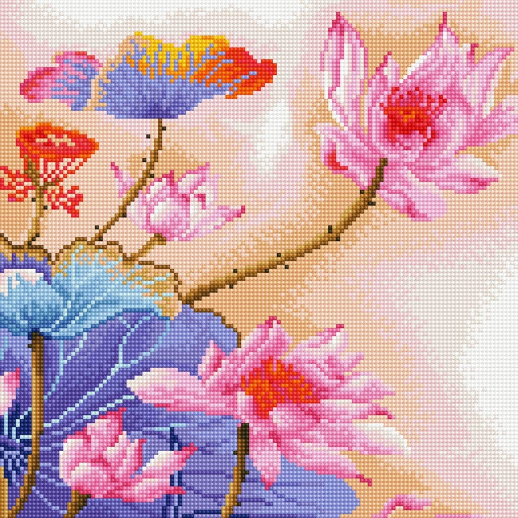 TINMI ARTS 4 Pack 5D DIY Diamond Painting by Number Kits for Adults Crystal Rhinestone Diamond Embroidery Cross Stitch Home Wall Decoration Waterdrop Rose 30x30
