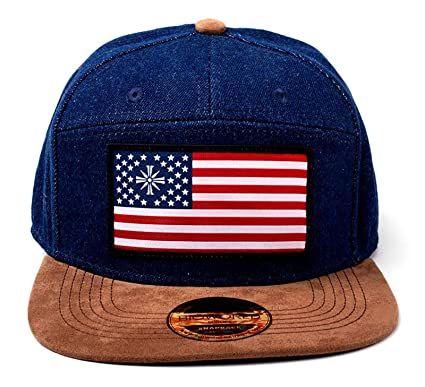 2860fe4dc6f5 Image Unavailable. Image not available for. Color  Far Cry 5 Baseball Cap American  Flag Logo Denim Official Ps4 Xbox Blue Snapback
