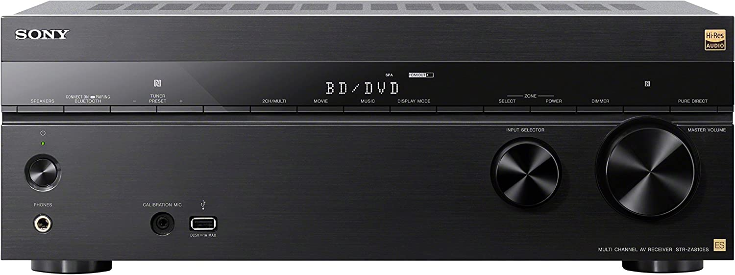 B071148MYX Sony STRZA810ES AV Audio & Video Component Receiver Black 81yHJfDFU3L.SL1500_
