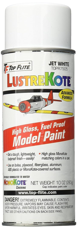 Top Flite Jet White LustreKote Spray (10 oz), Paints