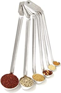 Super Durable, Heat Resistant Mini Ladle 6 Pk. Reach Easily Into Small Jars With Engraved Flair Handles. Stainless Steel Food Measurement Tools for Chefs and Home Cooks Great for Spices and Seasonings