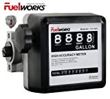 "Fuelworks 15111200A 1"" Mechanical Fuel Meter, Black"