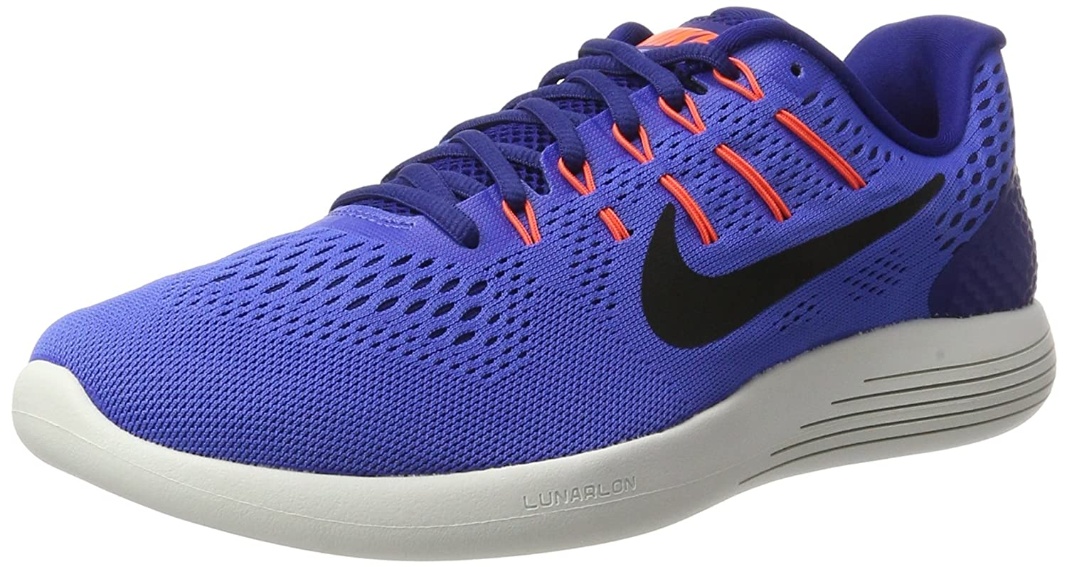 Nike Mens Lunarglide 8, Black / White - Anthracite B003KIABXA 11 D(M) US|Medium Blue/Black