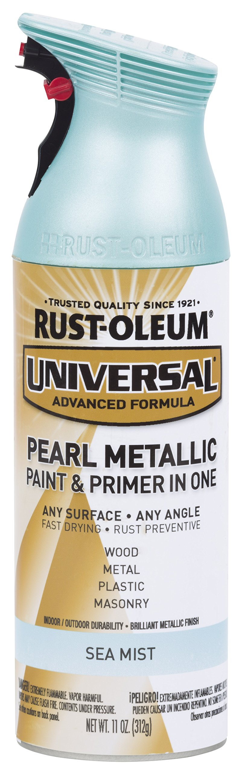 Rust-Oleum 301551 Universal All Surface Spray Paint, 11 oz, Pearl Metallic Sea Mist by Rust-Oleum (Image #1)