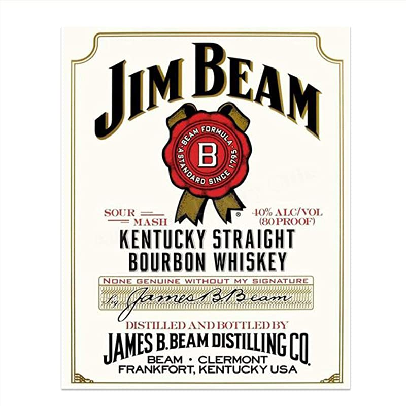 Jim beam bar flag poster mancave flag wall hanging bourbon whiskey banner USA