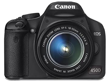 Canon EOS 450D Digital SLR Camera Kit (incl EF-S 18-55mm IS f/3 5-5 6 non  USM Lens Kit)