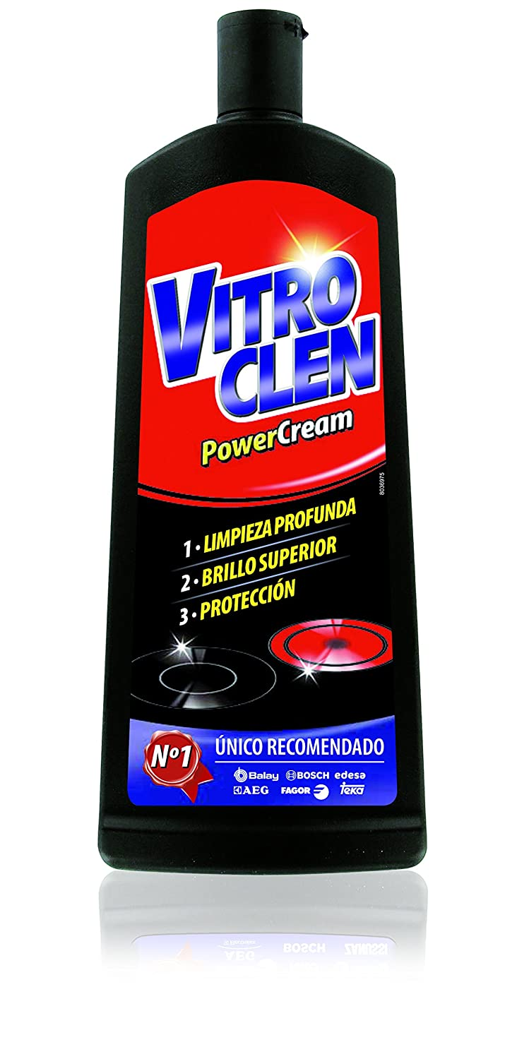 Vitro Clen - Power Cream - Limpiador específico para vitrocerámicas - 450 ml