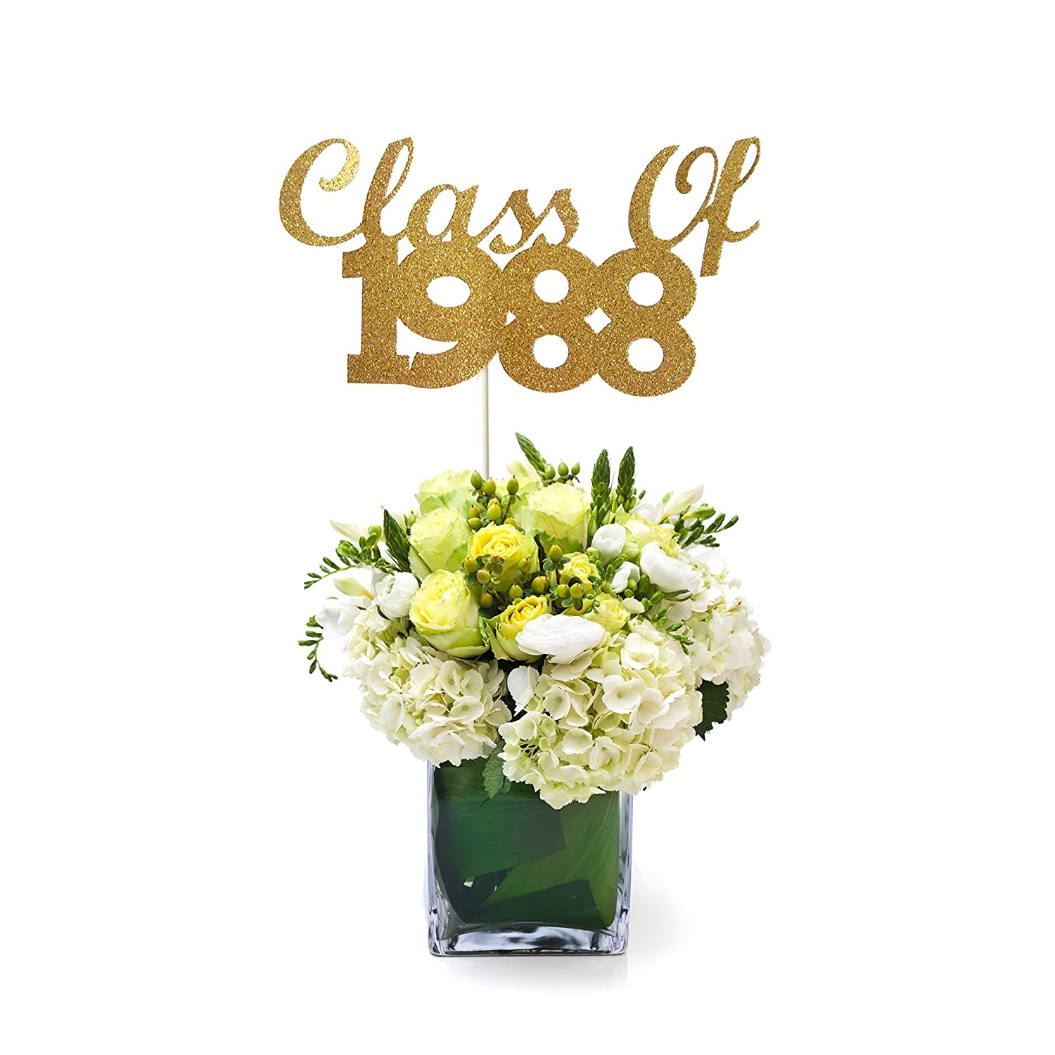 Class of 1988 Graduation Centerpiece Stick, 30th Class Reunion Centerpiece Stick