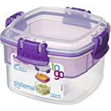 Sistema 21320 To Go Collection Snack Food Storage Container, 13.5 Oz, Assorted Color