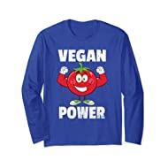 Vegan Power T Shirt, Strong Red Tomato Muscle Shirt