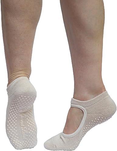 Garnet Label Barre Socks Women S Mary Jane Style Non Slip Socks For Barre Yoga And Pilates At Amazon Women S Clothing Store