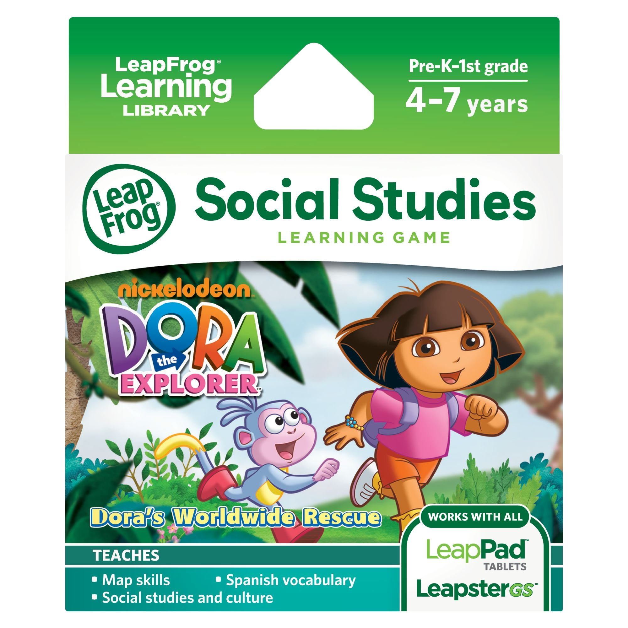 LeapFrog Dora the Explorer Learning Game (works with LeapPad Tablets and LeapsterGS) by LeapFrog