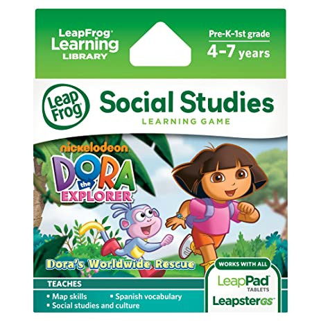 Amazon leapfrog dora the explorer learning game works with leapfrog dora the explorer learning game works with leappad tablets and leapstergs voltagebd Image collections