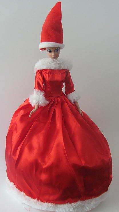Amazoncom Barbie Doll Clothes Dress Christmas Santa Dress Fits