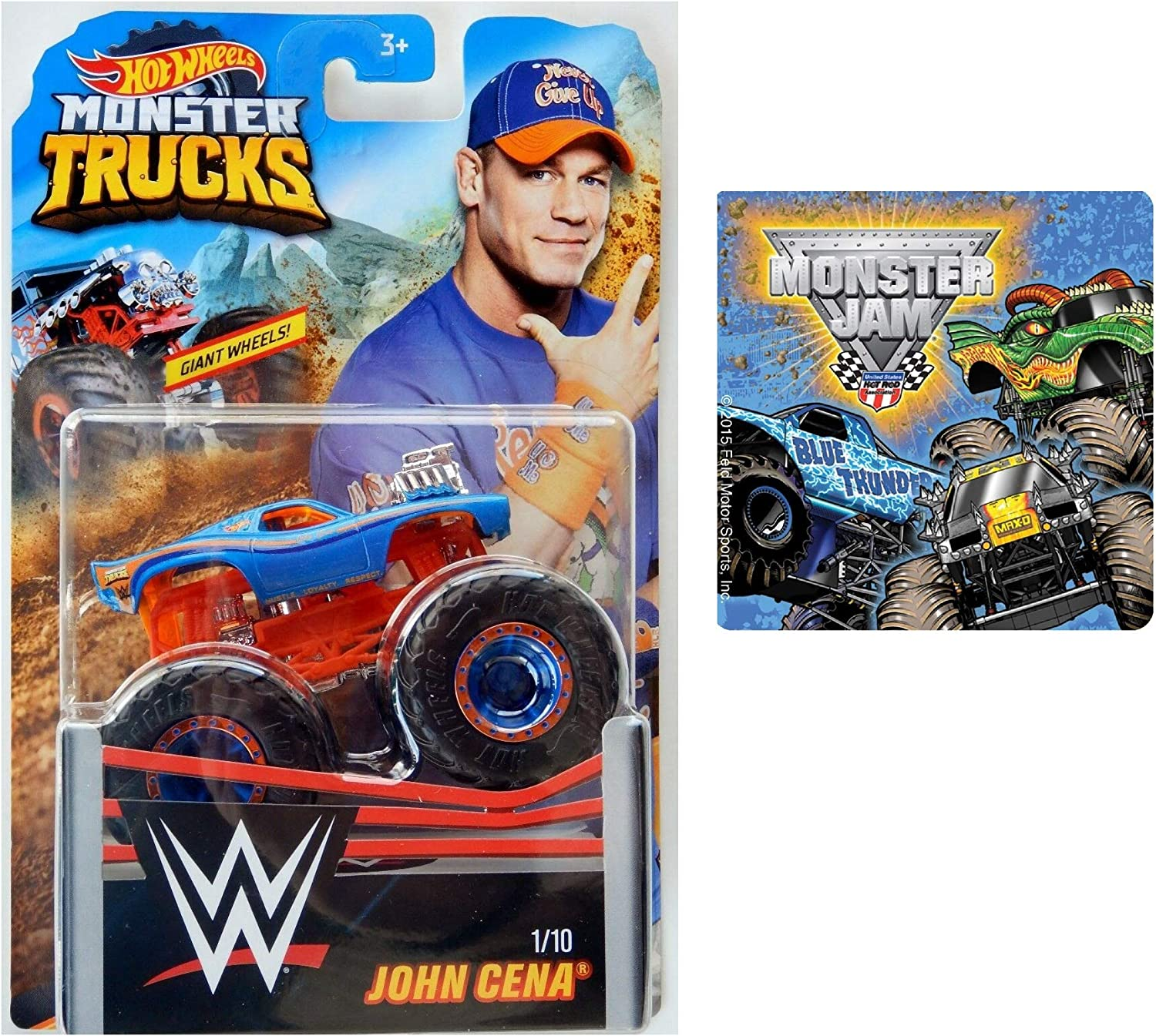 Hot Wheels Wwe Monster Truck John Cena 1 10 One Monster Jam Sticker Styles Vary 2 Items Bundle Die Cast Vehicles Amazon Canada