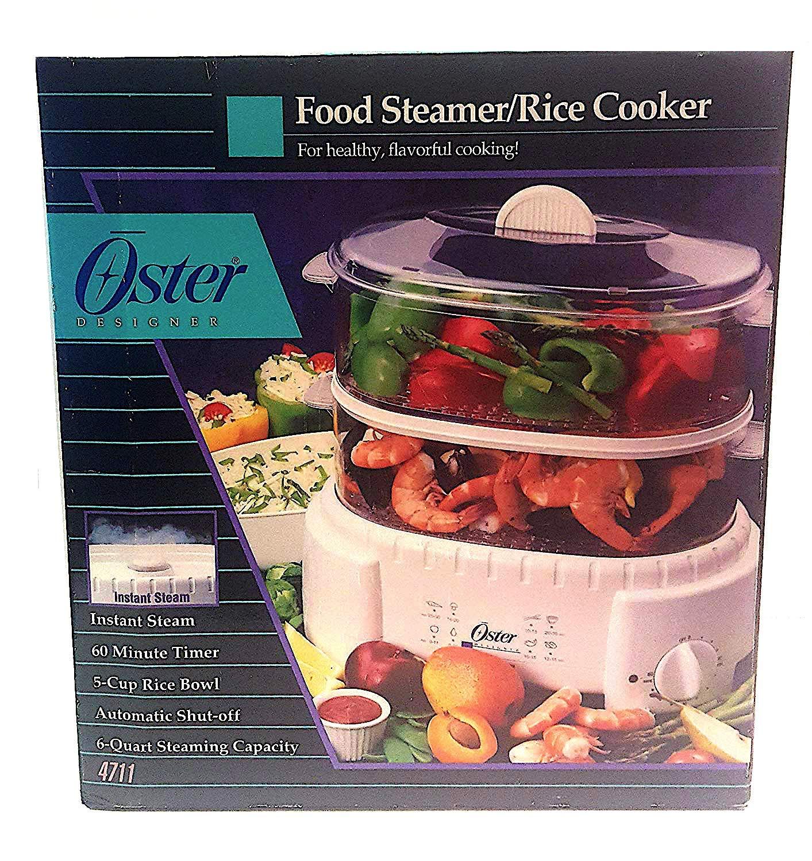 Oster 4711 Designer Large 6 Quart Capacity Food Steamer and Rice Cooker