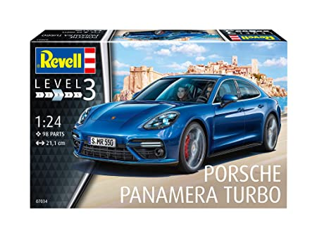 Revell Maqueta Porsche Panamera Turbo, Kit Modelo, Escala 1:24 (07034), Color Azul, 21,1 cm de Largo: Amazon.es: Juguetes y juegos