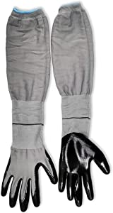 Long Sleeve Garden Glove, No-Slip Grip, Strong, Durable Gardening Gloves Protective, Flexible Sleeves, 1 Pair