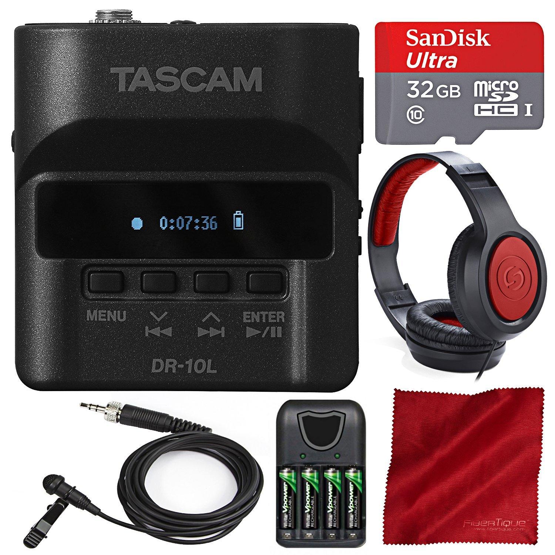 Tascam DR-10L Digital Audio Recorder Lavalier Mic Bundle ...