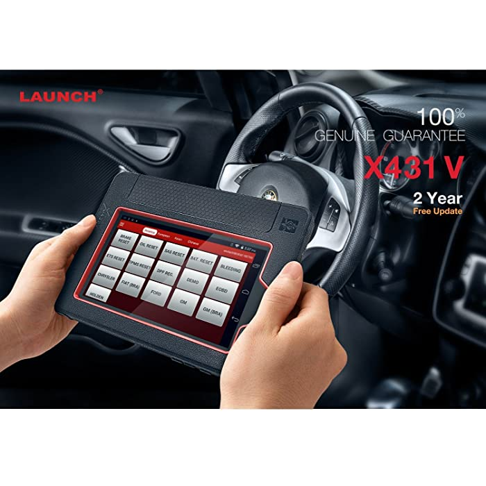 Launch X431 V is one of the best Diagnostic Tool that supports 2-Years Free Update& HASSALE FREE WARRANTY