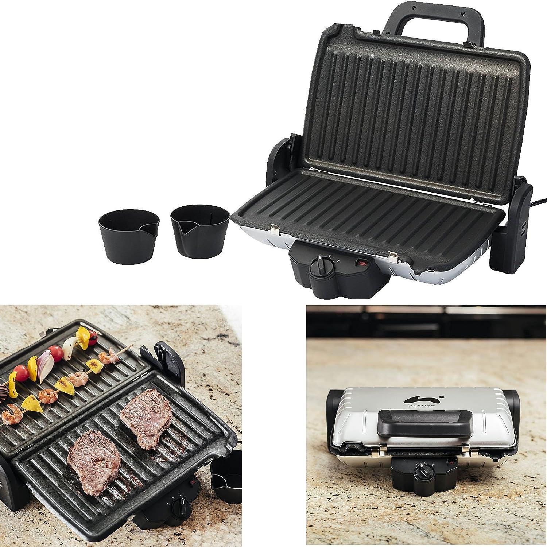 Ovation 3-in-1 Panini Press Low Fat Grill & Griddle Toastie Maker 1600W [Energy Class B] Qualtex OVAHT204