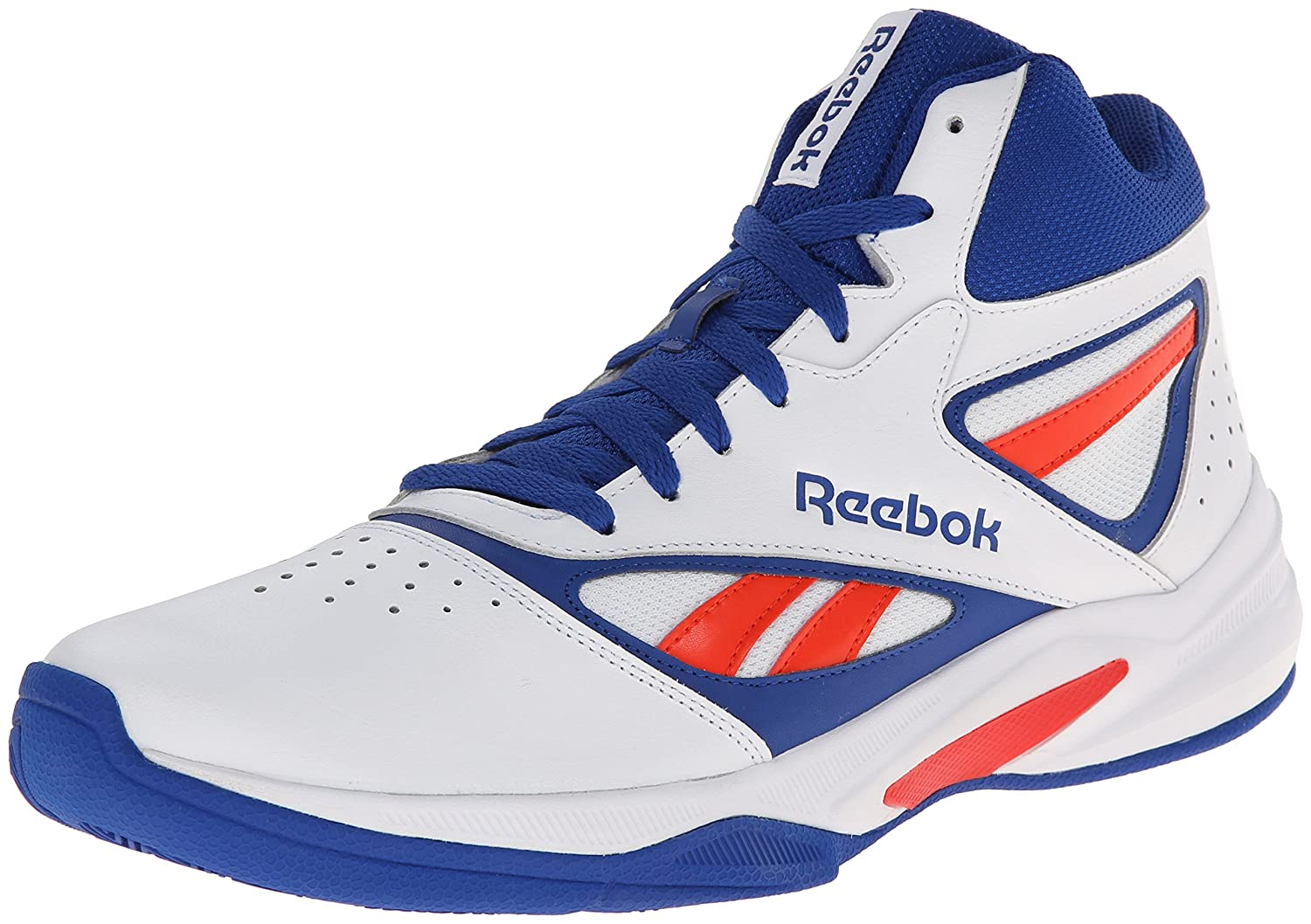 reebok basketball shoes blue. reebok men\u0027s pro heritage 1 basketball shoe, white/collegiate royal/bold orange, 7 m us: buy online at low prices in india - amazon.in shoes blue t