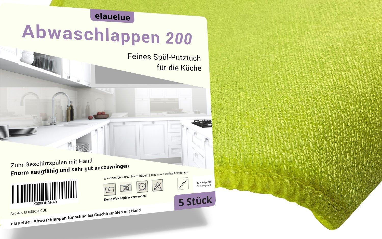 elauelue Abwaschlappen 200 - Spüllappen für die Küche zum Geschirr ...