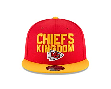 huge selection of 2afc1 81d72 Image Unavailable. Image not available for. Color  New Era Kanas City  Chiefs 2018 NFL Draft Spotlight Snapback 9Fifty Adjustable Hat