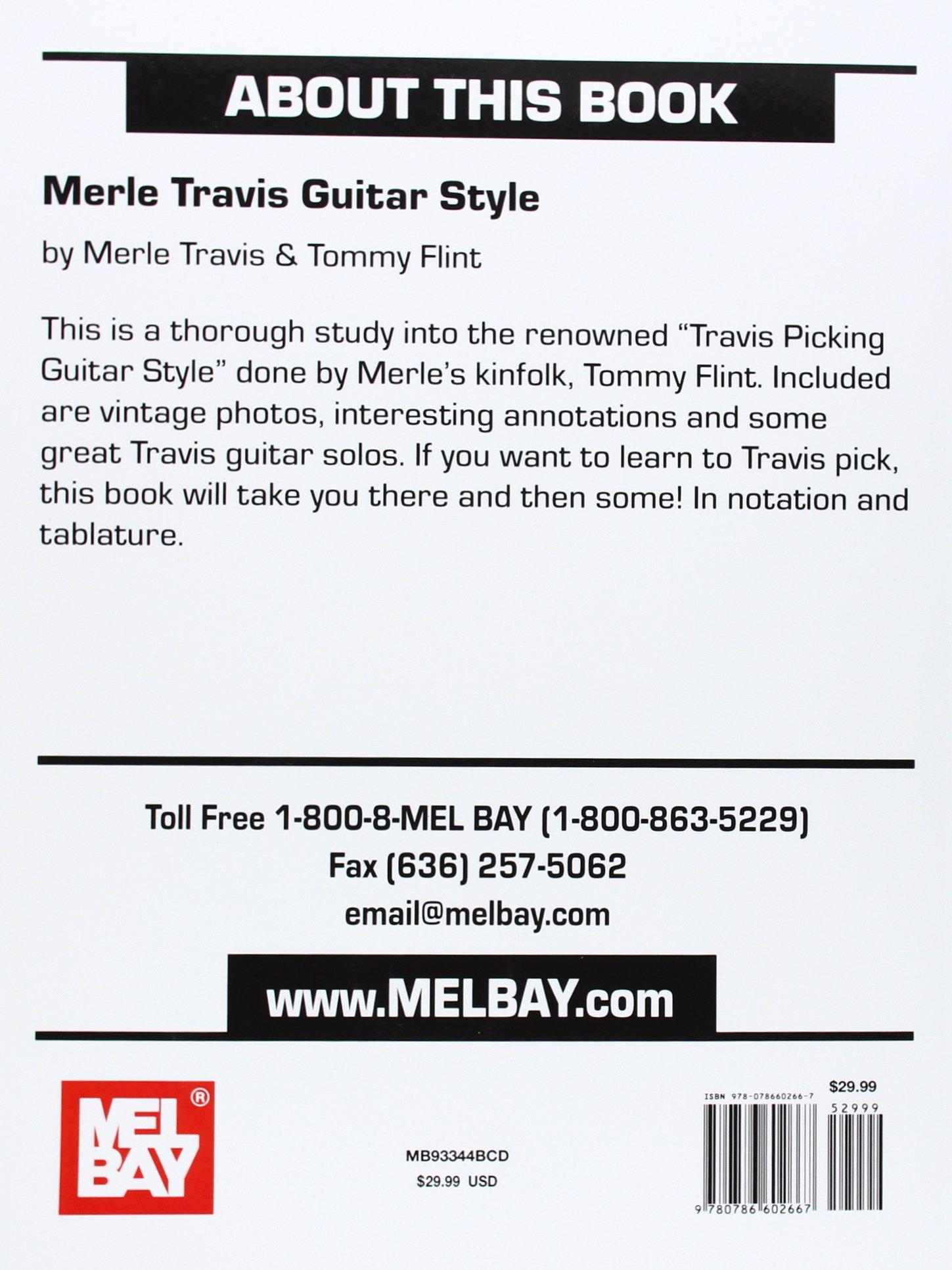 Mel Bay Merle Travis Guitar Style Merle Travis Tommy Flint