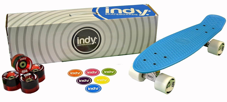 Indy Skateboards Retro Cruiser 70s Style Skateboard - 4 Colours (Vintage  70s Penny Globe Bantam Style) (Bangin Blue)  Amazon.co.uk  Sports   Outdoors b640b45dad