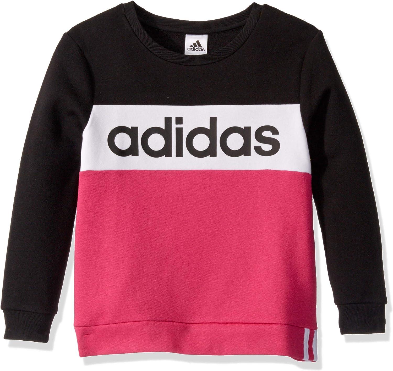 adidas Girls' Crewneck Pullover Sweatshirt